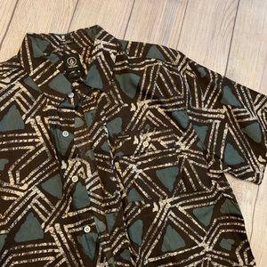 VOLCOM Short Sleeve Casual Button Down Shirt